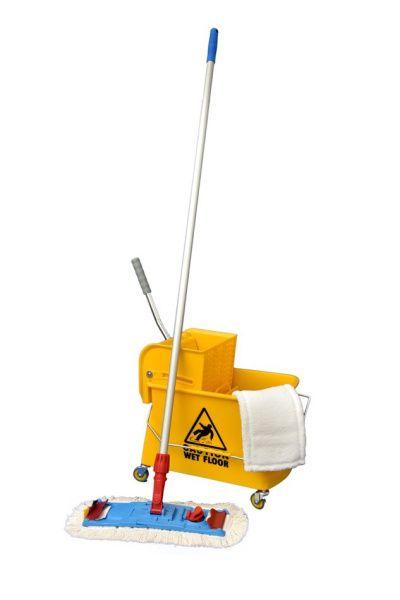 AllServices Mopset úklidový vozík mopset01 (Úklidový vozík, mop, tyč, 2 x návlek)