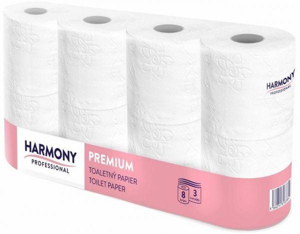 Harmony Professional Toaletní papír, 3 vr., 8 ks v balení