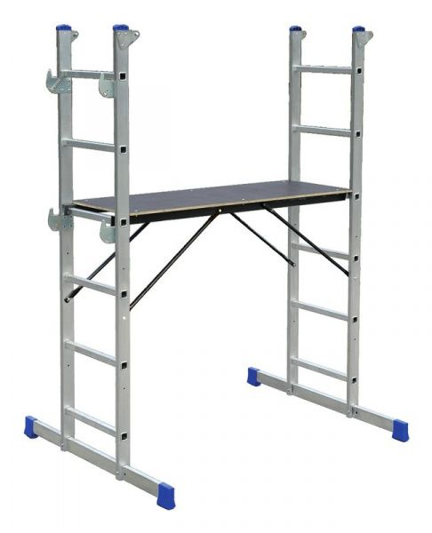 ELKOP hliníková pojízdná plošina s možností úpravy na schody 6 příček, 1,6m