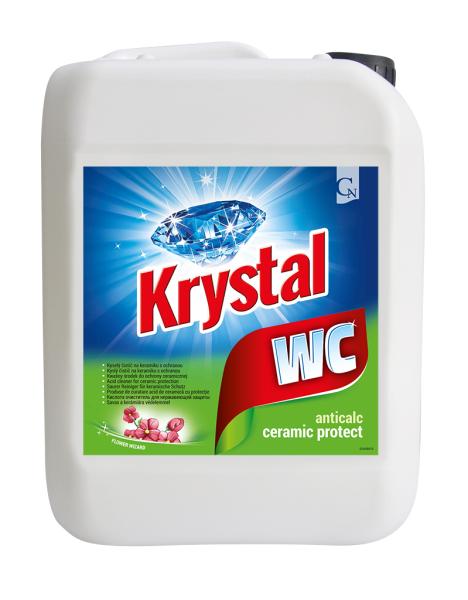 KRYSTAL WC kyselý na keramiku s ochranou zelený 5 l