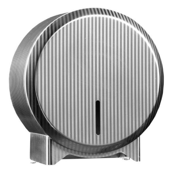 Zásobník na toaletní papír v rolích Mini MERIDA INOX DESIGN pinstripe line, nerez