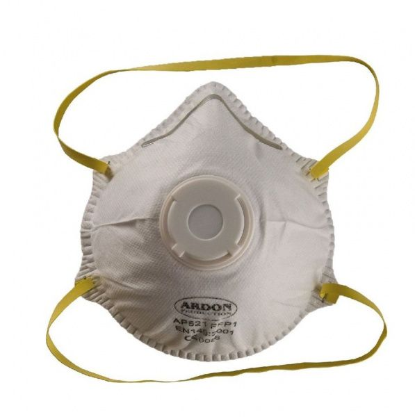 Mušlový respirátor z polypropylenu s výdechovým ventilkem FFP1 - 12 kusů