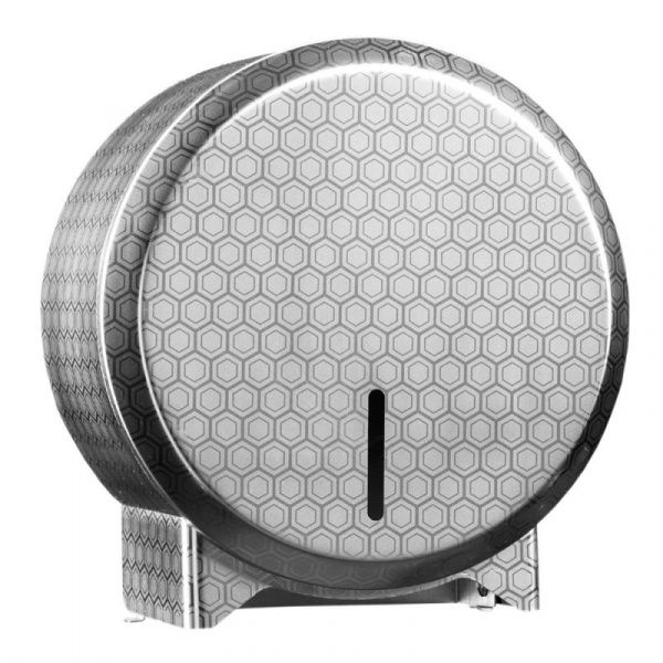 Zásobník na toaletní papír v rolích Mini MERIDA INOX DESIGN honeycomb line, nerez