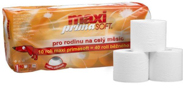 Toaletní papír PrimaSoft Maxi - návin 60 metrů, 2.vr., 100% celulóza 10 ks