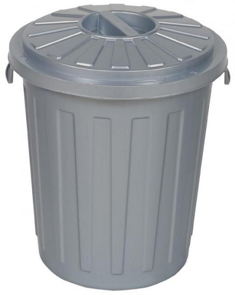 AllServices Odpadkový koš s víkem stříbrný 23 l