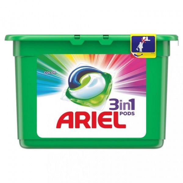ARIEL gelové kapsle na praní barevného prádla 14 ks
