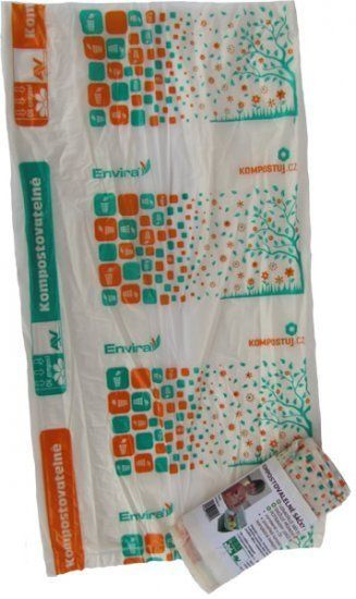HBABio Sáčky na bioodpad kompostovatelné, 20 l - 10 ks