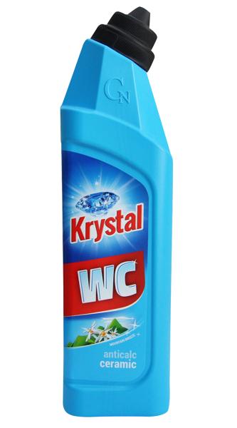 KRYSTAL WC kyselý na keramiku, modrý 750 ml